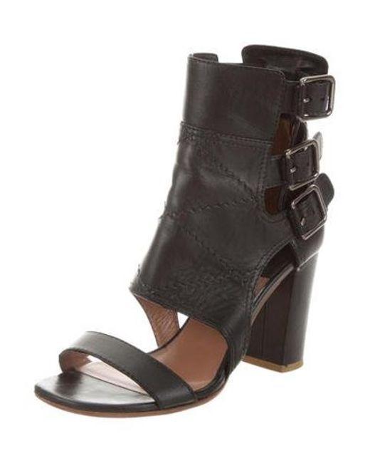 7f460994083 ... Laurence Dacade - Metallic Leather Mid-heel Sandals Black - Lyst ...