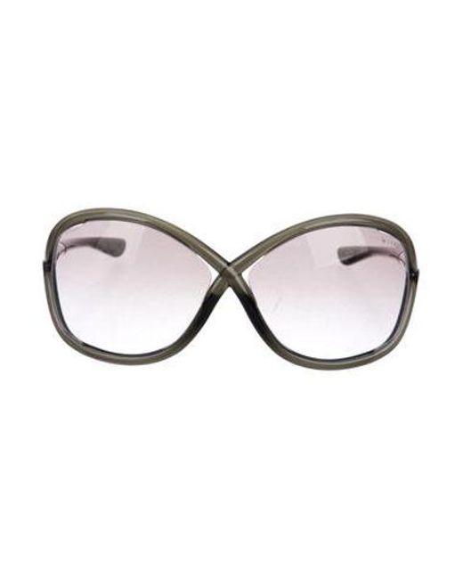 626b56eae8 Tom Ford - Metallic Whitney Oversize Sunglasses Silver - Lyst ...