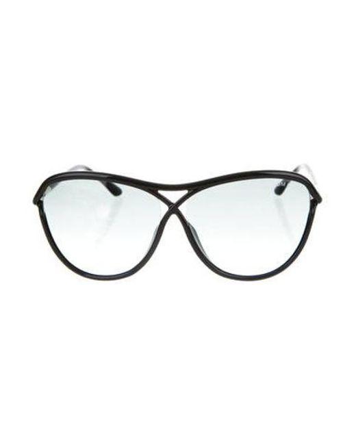 33d1b5da9804a Tom Ford - Metallic Tabitha Oversize Sunglasses W  Tags Gold - Lyst ...