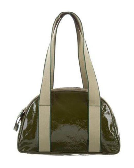 4e5e50ab7bab Miu Miu - Green Miu Patent Leather Shoulder Bag - Lyst ...