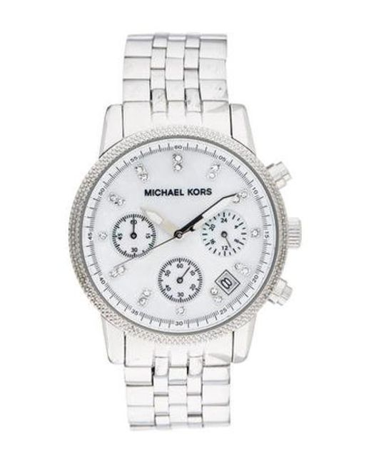 a63d2b5cb3b3 Michael Kors - Metallic Ritz Watch - Lyst ...