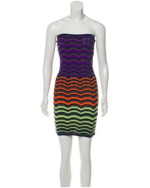 525a871a9bd M Missoni - Purple Mini Tube Patterned Dress W  Tags - Lyst ...