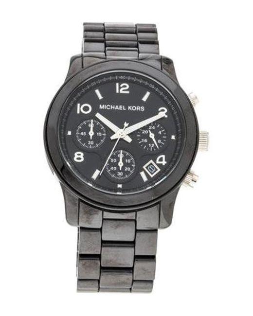 4481a00f317e Michael Kors - Metallic Runway Watch - Lyst ...
