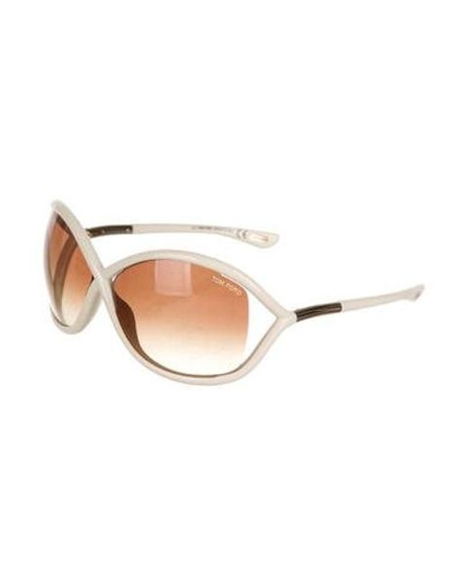 a32de9c0338a ... Tom Ford - Metallic Whitney Gradient Sunglasses Gold - Lyst ...