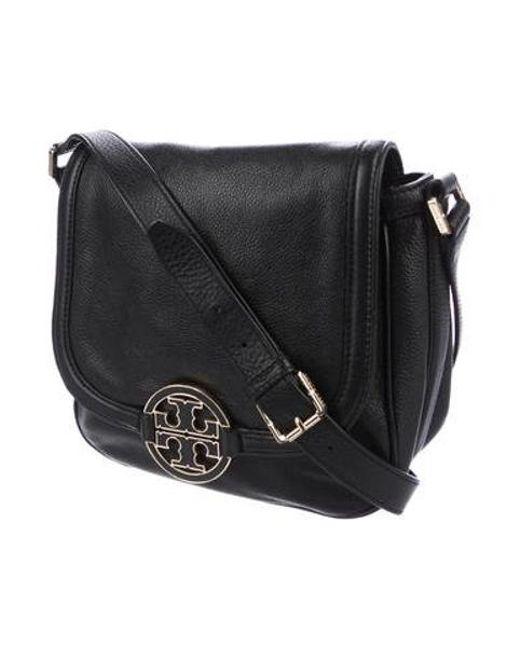 f271cc6065c ... Tory Burch - Metallic Amanda Crossbody Bag Black - Lyst ...