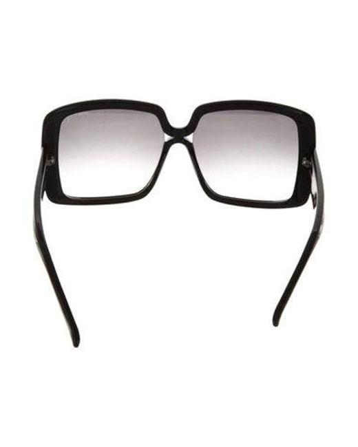 f8a7a48fbd ... Nina Ricci - Black Oversize Square Sunglasses - Lyst ...