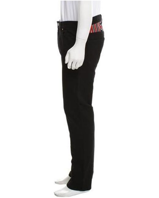 9f7ea57613 ... Moschino Couture - Black Logo Slim-fit Jeans W/ Tags for Men - Lyst ...