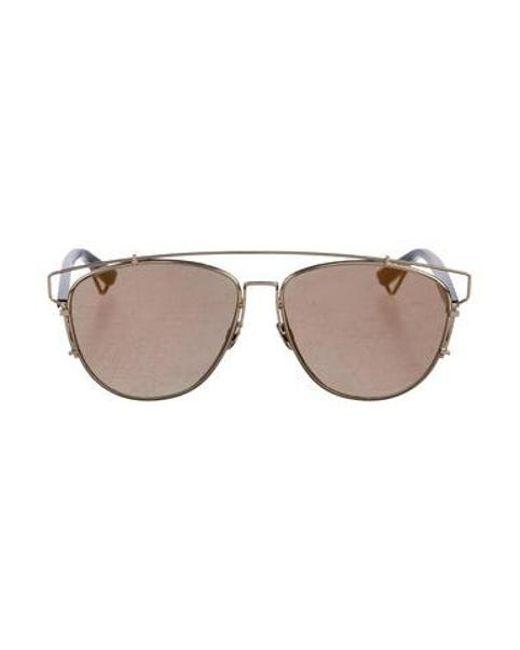 dior mirrored sunglasses authentic dior metallic technologic mirrored sunglasses gold lyst in