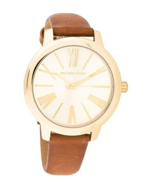 77eb5563b40f Michael Kors - Metallic Hartman Watch - Lyst ...