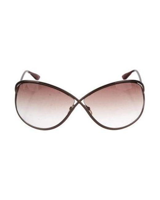 56cf7b1bff Tom Ford - Metallic Miranda Gradient Sunglasses Bronze - Lyst ...