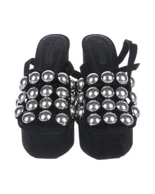 ee8859369b2 ... Alexander Wang - Metallic Studded Platform Sandals Black - Lyst ...