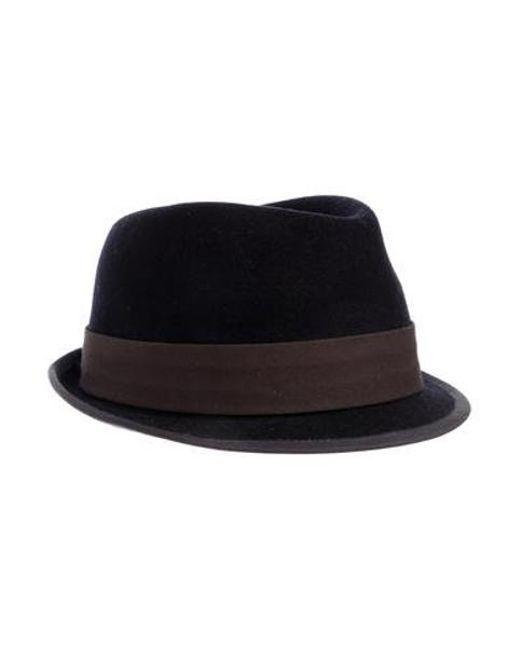 66c603e79dd Rag   Bone - Blue Wool Fedora Hat Navy - Lyst ...