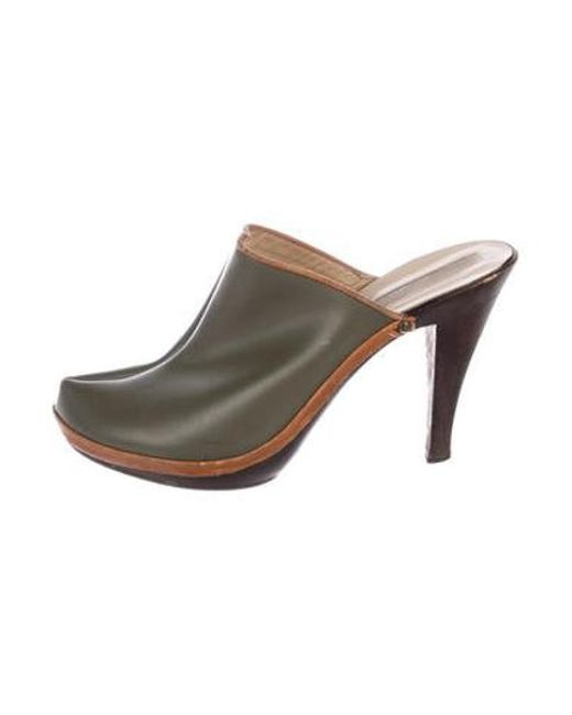 d886fb978 Michael Kors - Green Metallic Pointed-toe Mules Olive - Lyst ...