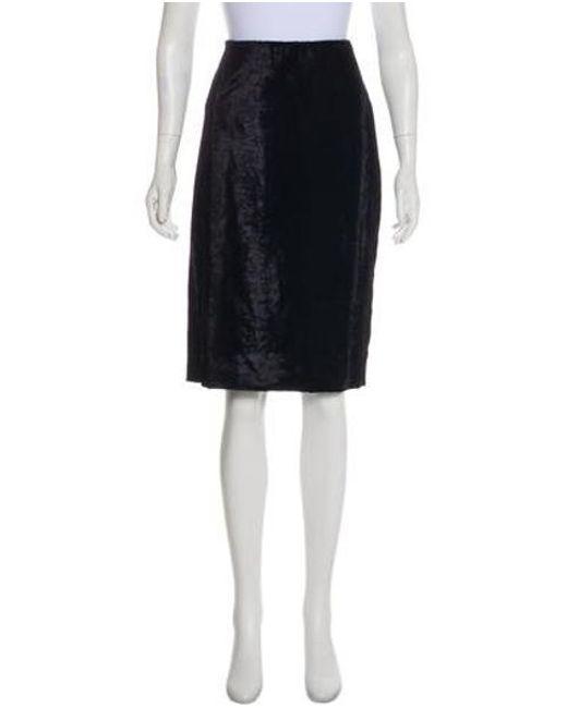 7861e8ccef Prabal Gurung - Blue Velvet Knee-length Skirt Navy - Lyst ...