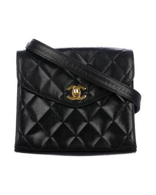 4fb4ae4f8fe5d8 Chanel - Metallic Vintage Quilted Flap Bag Black - Lyst ...