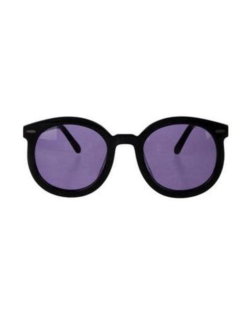 aef4949be7f6 Karen Walker - Black Super Duper Strength Sunglasses - Lyst ...