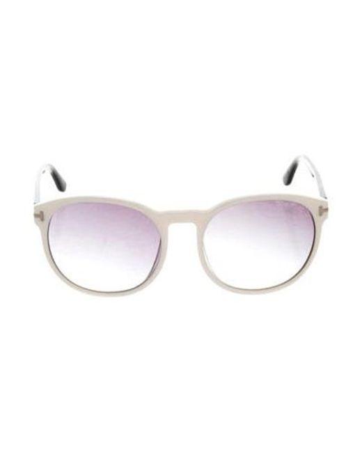 cdc5dded60b Tom Ford - Black Gradient Oversize Sunglasses - Lyst ...