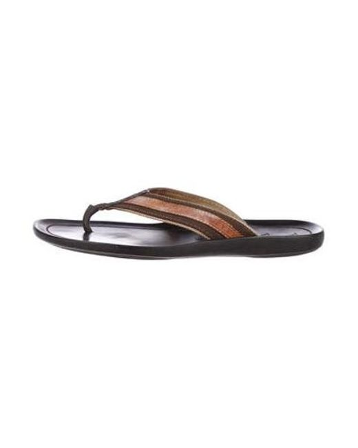 ae1eef0adbd Louis Vuitton - Natural Monogram-embossed Leather Flip-flops Brown for Men  - Lyst ...