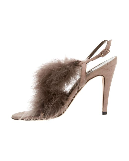 Manolo Blahnik Feather-Embellished Wizza Sandals official cheap price buy cheap store jN90KyT