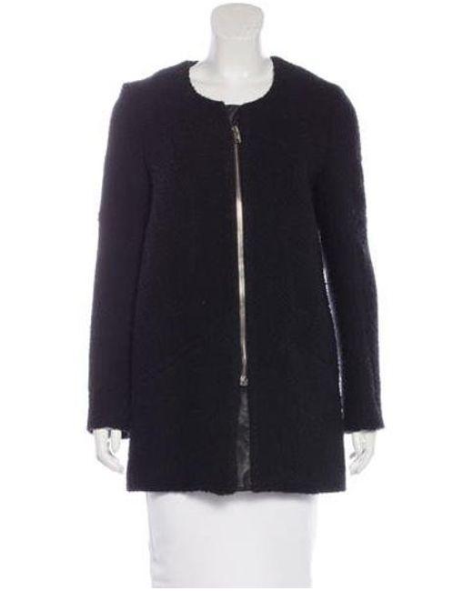 IRO - Black Wool Bouclé Coat - Lyst