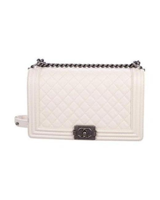 20040738a4b6 Chanel - Metallic 2017 Medium Plus Boy Bag Silver - Lyst ...