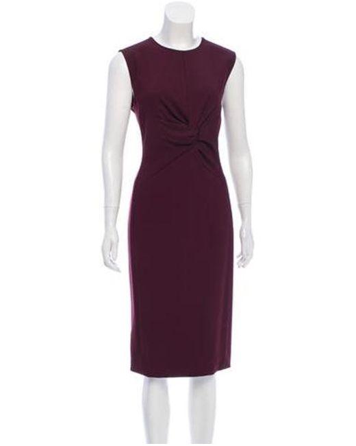 a91e66b64a6 Narciso Rodriguez - Purple Silk Midi Dress - Lyst ...