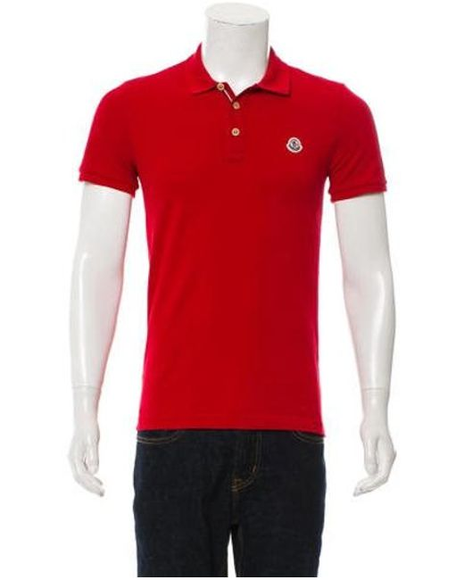 4ea88d060ee4 Lyst - Moncler Piqué Polo Shirt in Red for Men