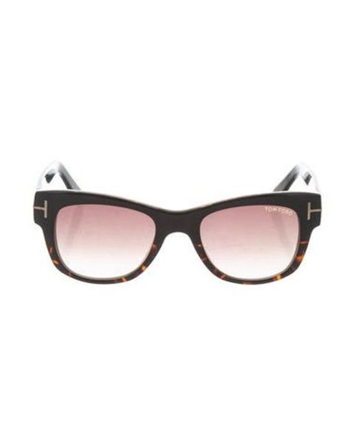 437aefec513 Tom Ford - Metallic Cary Tinted Sunglasses Brown - Lyst ...