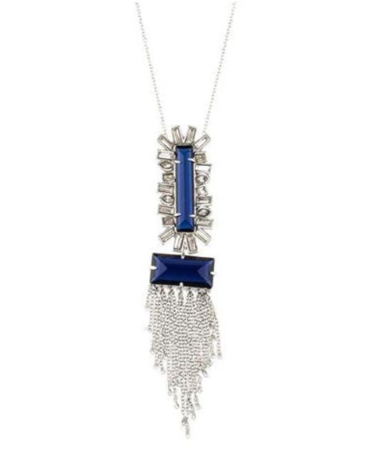 Alexis Bittar - Blue Crystal Pendant Necklace Silver - Lyst