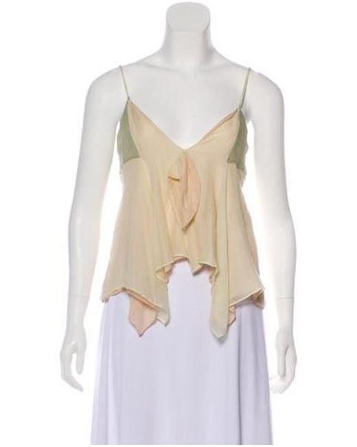 b31a8d1c39d65 Stella McCartney - Green Silk-blend Sleeveless Top - Lyst ...
