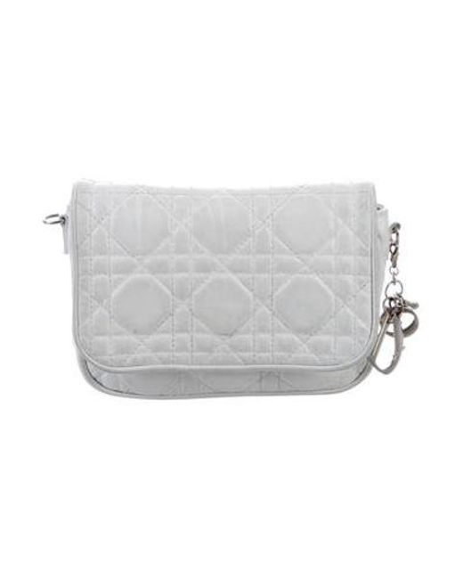 54b5d3568ef1 Dior - Metallic Leather Cannage Pouch White - Lyst ...