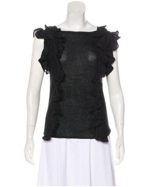 Rachel Comey - Black Ruffled Knit Top - Lyst