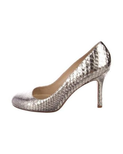 669e2f363d42 Kate Spade - Metallic Embossed Round-toe Pumps Gold - Lyst ...