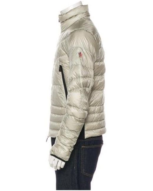 d4fab084111c ... new zealand moncler grenoble metallic canmore down jacket silver for men  lyst 2d30a 8c66a ...