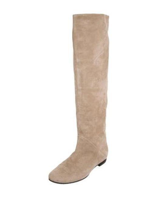 2c3c710eef0 ... Giuseppe Zanotti - Gray Suede Knee-high Boots - Lyst ...