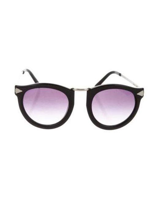 10a62fb1214f Karen Walker - Metallic Harvest Tinted Sunglasses Black - Lyst ...