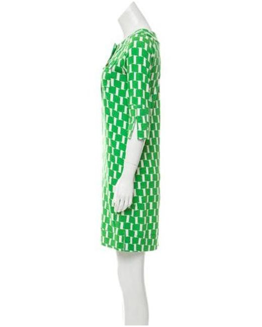 b815e6842f883 ... Diane von Furstenberg - Green Silk Mini Dress - Lyst ...
