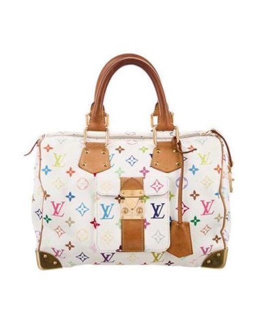 Louis Vuitton - Natural Multicolore Speedy 30 White - Lyst