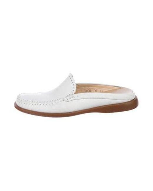 8e9d1f57d6d Ferragamo - White Leather Slip-on Loafers for Men - Lyst ...