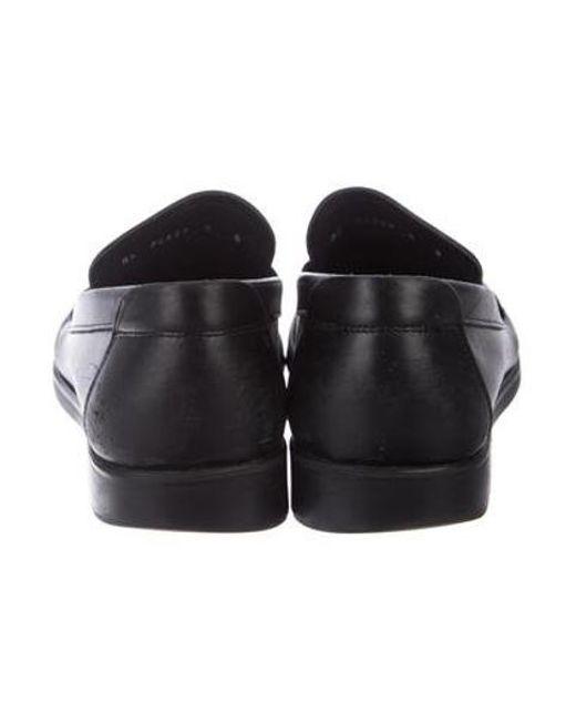 914721ff119 ... Ferragamo - Metallic Leather Gancini Driving Loafers Black for Men -  Lyst
