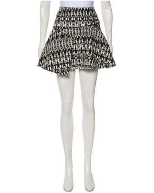 1cb7d3bc6 10 Crosby Derek Lam - Black Tweed Mini Skirt - Lyst ...