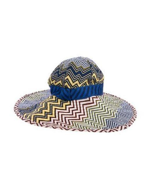 Missoni - Blue Chevron Wide-brim Hat Multicolor - Lyst ... 1e7a64ab6c79
