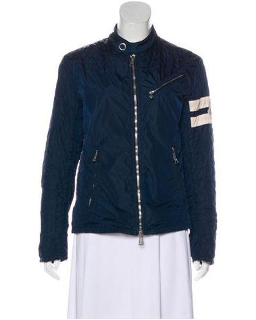 f0f6f69ef Lyst - Moncler Zip-up Lightweight Jacket Navy in Blue