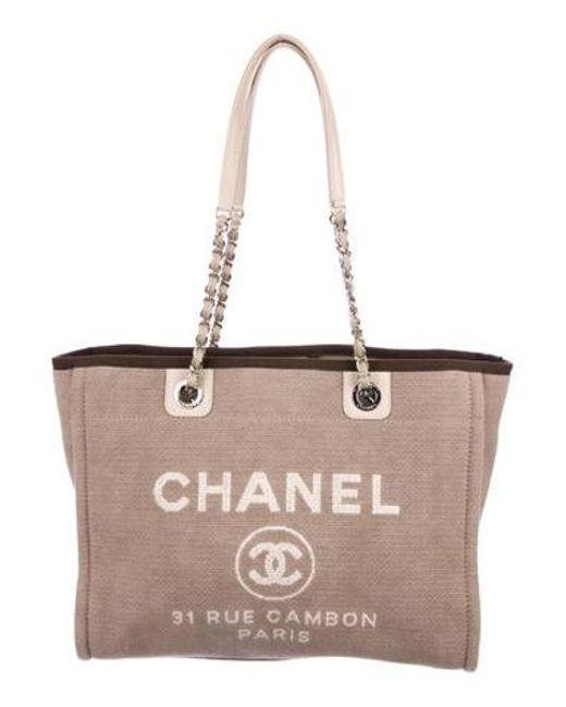1283a9c9cf21 Chanel - Metallic Small Deauville Tote Silver - Lyst ...