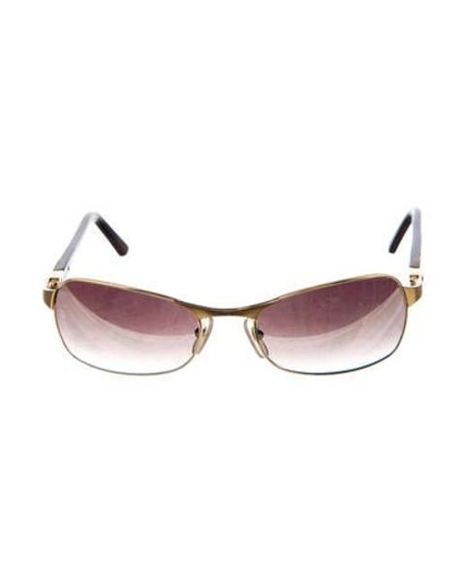 2d57fe390dc Cartier - Metallic Gold-plated Gradient Sunglasses Champagne - Lyst ...