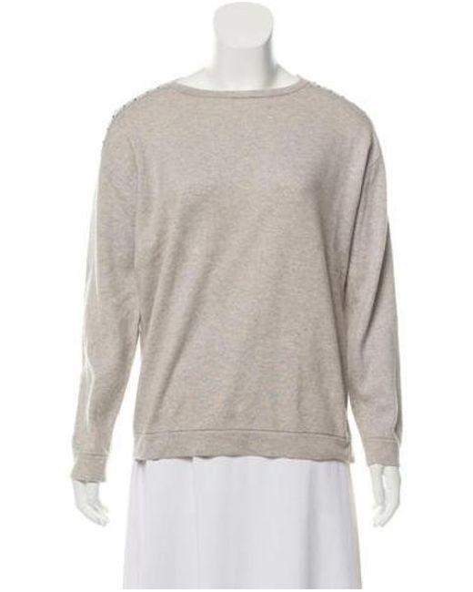fc60f238b5 Brunello Cucinelli - Gray Cashmere Knit Sweater Grey - Lyst ...