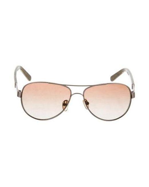 c7d66ff16e Tory Burch - Metallic Aviator Sunglasses Silver - Lyst ...