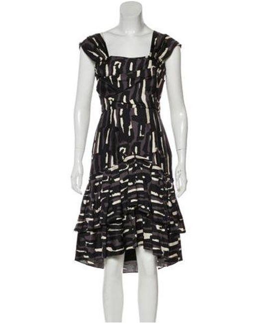Temperley London - Purple Silk Animal Print Dress Aubergine - Lyst ... bd4eb1e5c