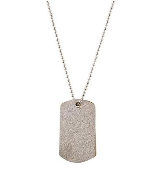 Brunello Cucinelli - Metallic Horn Double Tag Necklace Silver - Lyst