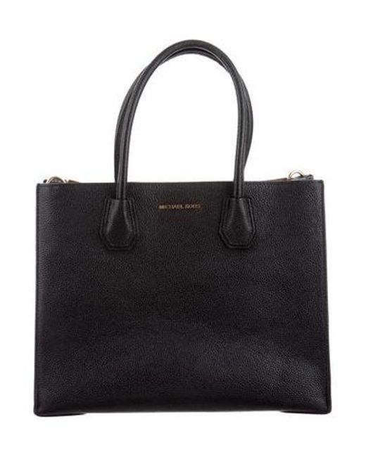 a0689ed95b67 MICHAEL Michael Kors - Metallic Michael Kors Grain Leather Bag Black - Lyst  ...